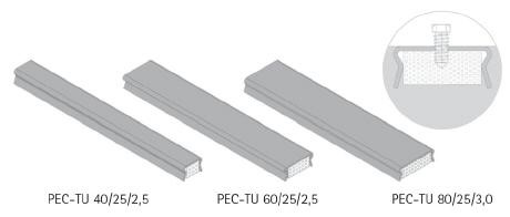 PEC Cast-in channels type TU for other applications